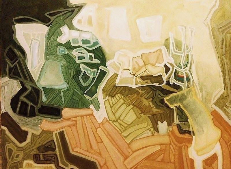Home Is Where Everything Is, oil on canvas, 36x48 inches, 2013
