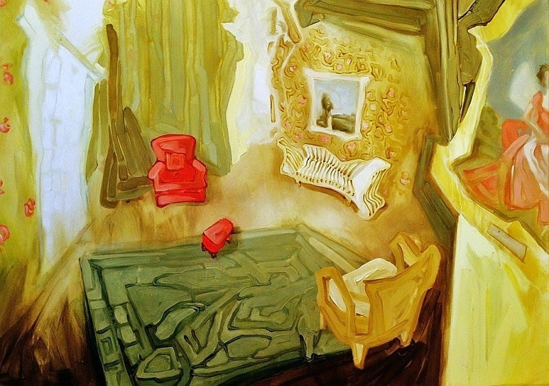 Sunny Parlour, oil on canvas, 36x48 inches, 2013